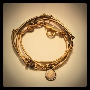 Jewelry - Handmade genuine leather cord wrap bracelet